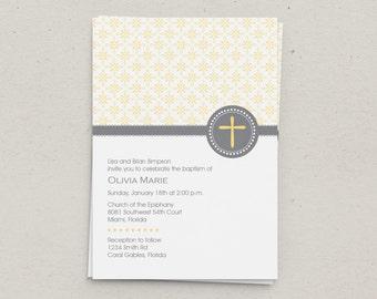 Religious Baptism Invitation