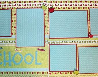SCHOOL 12 x 12 premade scrapbook page - School
