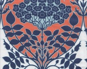 Free Spirit Fabrics Joel Dewberry Botanique Leafy Damask in Apricot - Half Yard