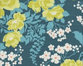 Free Spirit Fabrics Joel Dewberry Flora Rose Bouquet in Eucalyptus - Half Yard