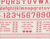 Moda Fabrics Baby Jane Sampler in Red - Half Yard
