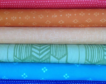 Hoffman ME + YOU Indah Batik Rainbow Fat Quarter Set - 8 Fat Quarters