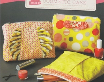 Straight Stitch Society In A Clutch Cosmetic Case Pattern