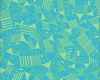 Free Spirit Fabrics Erin McMorris Astrid Mitte in Aquamarine - Half Yard