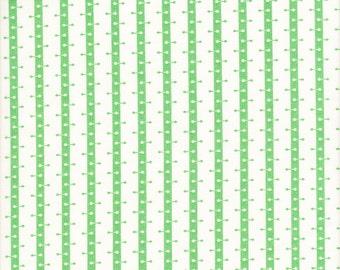 Free Spirit Fabrics Denyse Schmidt Franklin Barbell Stripe in Glen - Half Yard