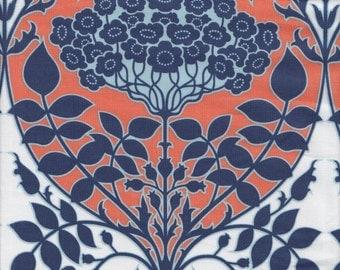 Free Spirit Fabrics Joel Dewberry Botanique Leafy Damask in Apricot - Half Yard