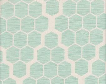 SALE - Free Spirit Fabrics Joel Dewberry Bungalow Hive SATEEN in Mint - Half Yard