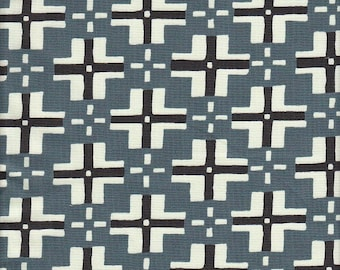 Free Spirit Fabrics Parson Gray Curious Nature Trade Blanket in Steel - Half Yard