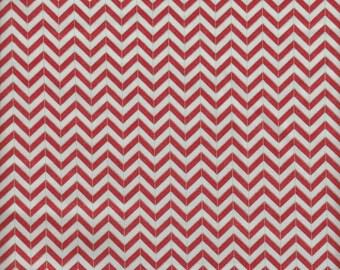 Moda Fabrics PB & J Chevron Stripe in Red- Half Yard