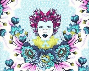 Free Spirit Fabrics Tula Pink Elizabeth 16th Century Selfie in Sky - Half Yard