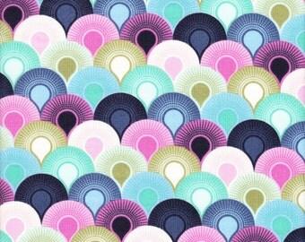 Free Spirit Fabrics Tula Pink Elizabeth Chain Mail in Sky - Half Yard