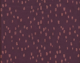 Windham Fabrics Heavy Metals Burgundy/Bronze Dots - Half Yard