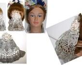 Bun SNOOD, NEW design , Civil War Ball or evening Headdress, Victorian Hair Bun Coverlet, hair Bun Cover, Cozy, civil war hair accessories