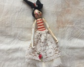 Collectable OOAK art doll - polymer clay doll - Bibiana