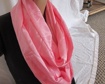 SALE - Shiny Pink Cowl/Circle Scarf/Infinity Scarf (5147)