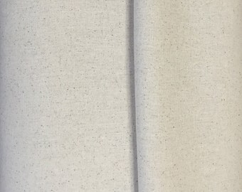 """Osnaburg fabric, 100 percent cotton, natural color, 44/45"""", price is per yard."""