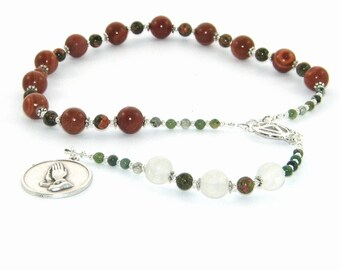 Serenity Prayer Beads, 12 Step Recovery Meditation Beads for Men