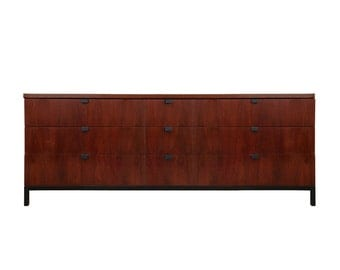 Free Shipping Vintage Milo Baughman for Directional 9 Drawer Long Dresser