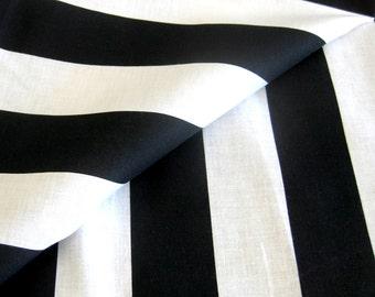 Black and White Striped Cotton Fabric Cabana Stripe Big Top Stripe