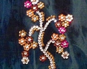 New Custom Lee Slender Secret Tie Dyed Swarovski Crystal Jeans 16