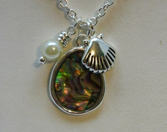 abalone and pearl set