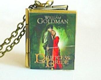 The Princess Bride, William Goldman, Fairy Tale Romance Novel, 1970's Fantasy Novel, American Meta Fiction, Book Locket Necklace, Reader