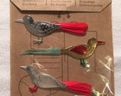 Jolee's Boutique, Glass Birds Clips, Christmas, Scrapbook Embellishments, Dimensional Sticker, Paper Crafting Supply, Tags, Cards, Journals