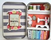 Tiny Tin Sewing Room ~ Crate Something Beautiful Every Day