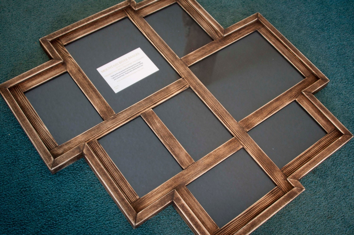 collage picture frame multi 8 opening distressed rustic. Black Bedroom Furniture Sets. Home Design Ideas