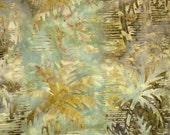 Green Sumatra Palms Batik 100% Cotton Quilting Fabric