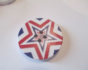 10 Wooden Star Buttons
