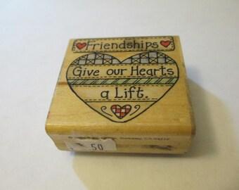 Friendship Wooden Stamp Craft Supplies
