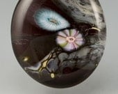 Outer Edge ... glass CABOCHON artsy organic lampwork jewelry designer cabs  by GrowingEdgeGlass/ Mikelene Reusse