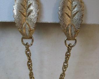 Leaf Gold Sweater Guard Clip Vintage Leaves