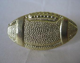 Football Brooch Gold Vintage Pin