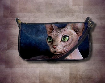 Clutch or Square Sling Bag Purse Cat 578 Hairless Sphynx Sphinx from art painting L.Dumas