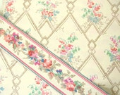Vintage 1932 Wallpaper and Border Sample - Bolster