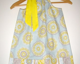 Pale Gray blue dress pillowcase dress available in size  4T  READY to ship