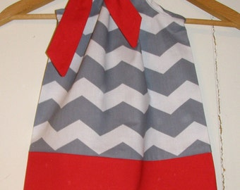 dress  Gray Chevron Pillowcase dress  red dress available in size 3,6,9,12,18, months ,2t,3t,4t,5t,6,7,8,10,12