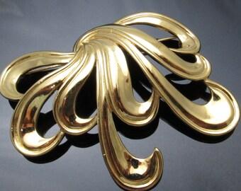 Bold Artistic Vintage Brooch Monet Jewelry P7379