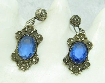 Antique Pendant Earrings Art Nouveau Jewelry E6862