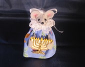 Hanukkah Mouse with a Menorah