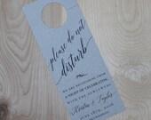 Wedding Door Hanger- Custom Reserved