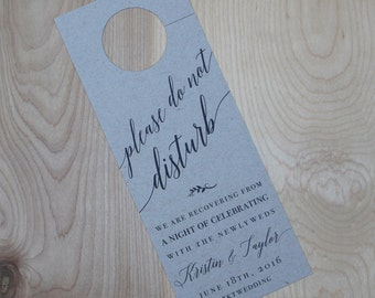 Wedding Door Hanger- Custom Reserved