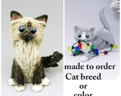 Cat Breed or Color Christmas Ornament Figurine Memorial Cake Topper Porcelain