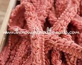 Loop Fringe - 3 yards Vintage Trim New Old Stock 60s 70s Salmon Pink