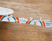 3 yards Vintage Ribbon Trim - New Old Stock Snoopy Rainbows