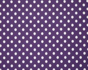 Eggplant dark purple dots 1 knit
