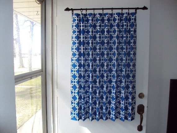 Back door window curtain front door curtain by countrycustoms for Front door window curtains