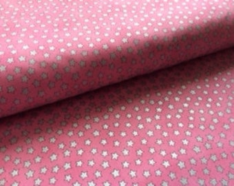 Silver Stars on Pink from the Kidz Line by Timeless Treasures: 1/2 yard